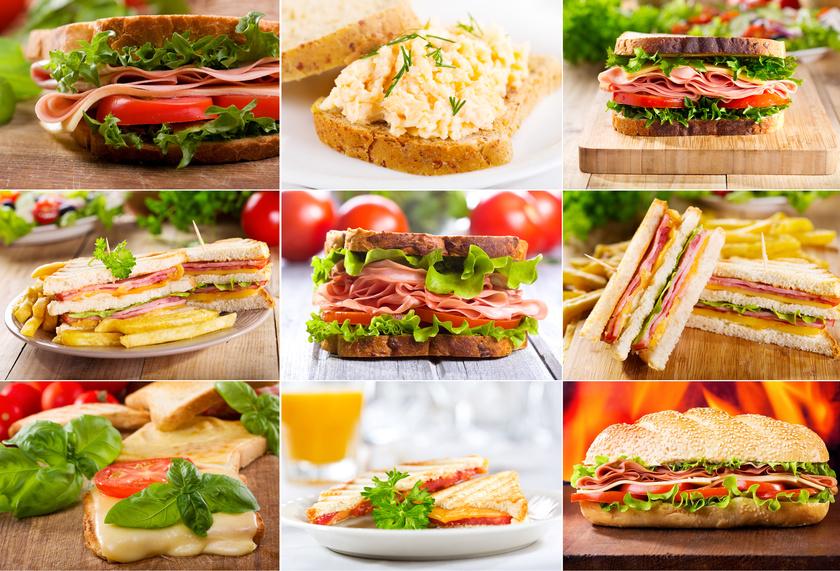assortiment de sandwiches