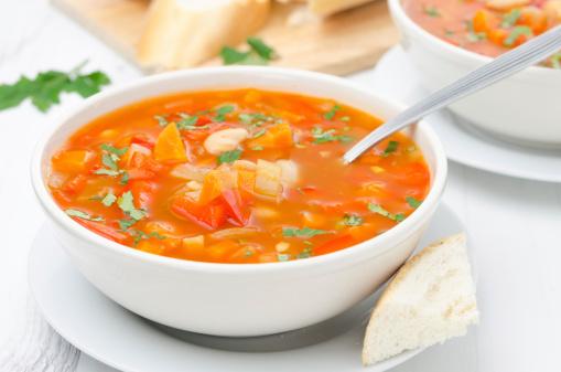 soupe pates et legumes